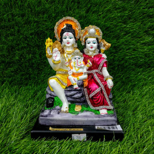 Shiva Parvati And Ganesha Idol - Send Gifts to Mohali