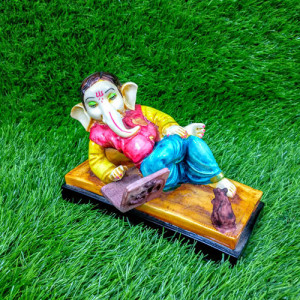 Ganesha Working With Laptop Idol Decorative Showpiece - Send Gifts to Mohali
