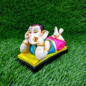 Ganesh Ji Talking On A Mobile Statue - Pinjore