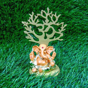 Refined Load Ganesha Idol Orange - Send Gifts to Mohali