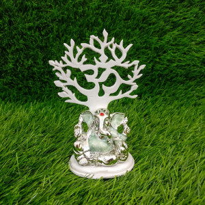 Refined Load Ganesha Idol Silver - Send Gifts to Mohali
