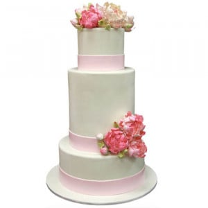 Multi Tier Colored Wedding Cake - Send Wedding Cakes Online