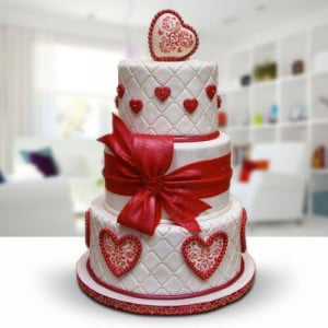 3 Tier Wedding Cake - Send Party Cakes Online
