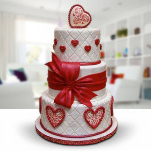 3 Tier Wedding Cake - Send Wedding Cakes Online