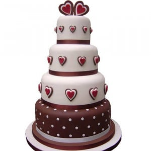 3 Tier Special Event Cake - Send Wedding Cakes Online