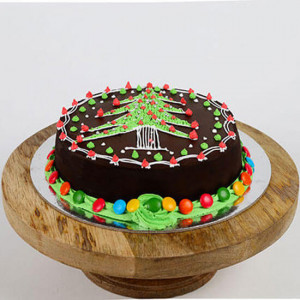 Christmas Tree Cake - Online Christmas Gifts Flowers Cakes