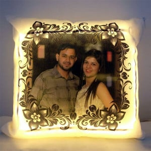 Personalised LED Cushion - Send Gifts to Mohali
