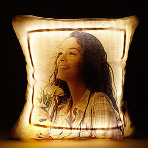 Personalised LED Cushion Multicolored with Remote - Pinjore