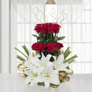 True Love - Flower Basket Arrangements Online