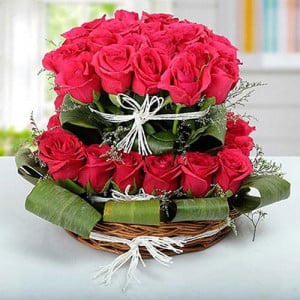 Fabled pink Beauty - Flower Basket Arrangements Online