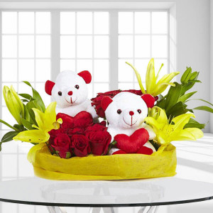 You N Me - Flower Basket Arrangements Online