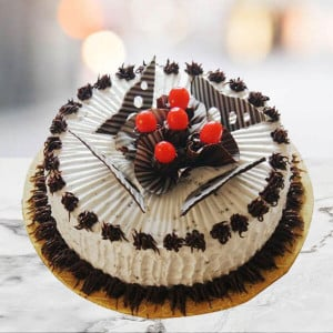 Online Cherry Chocolate Truffle Cake - 1st Birthday Cakes