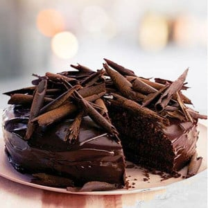 Online Chocolate Truffle Dark Cake - Kiss Day Gifts Online