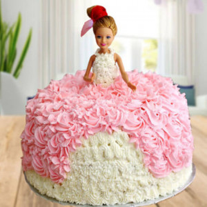 Princess Barbie Doll Cake - Cake Delivery in Chandigarh