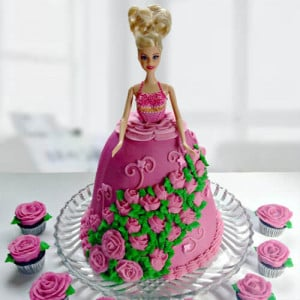 Online Doll Shape Cake - Send Pineapple Cakes Online