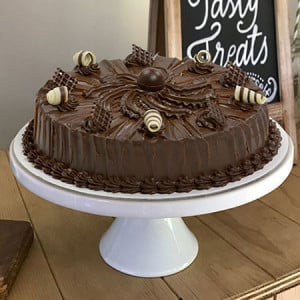 Chocolate Truffle Cake 1kg - Send Eggless Cakes Online