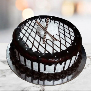 Mocha Checkered Cake - Cake Delivery in Chandigarh