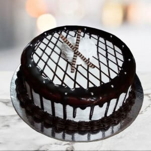 Mocha Checkered Cake - Online Cake Delivery In Pinjore