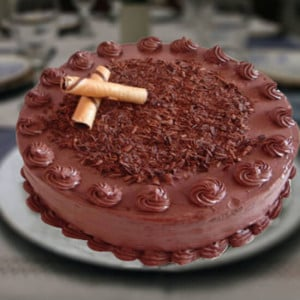 1kg Chocolate Cake - Online Christmas Gifts Flowers Cakes