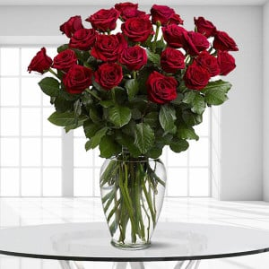 24 Enchanted Roses - Online flower delivery - Online Flowers and Cake Delivery in Hyderabad