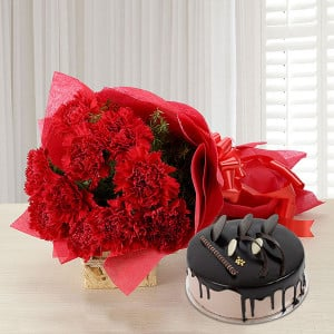 Carnations of Love - Birthday Cake and Flowers Delivery