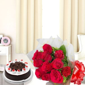 A Roses N Cake - Send Midnight Delivery Gifts Online