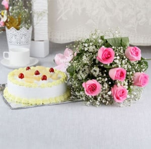 From The Heart - Birthday Cake and Flowers Delivery