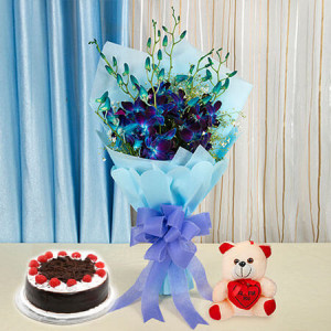 You are Always Special for me - Flowers with Soft Toys online