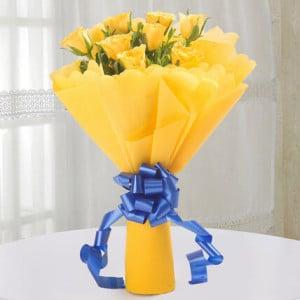 Degrees of Yellow - Online Flowers Delivery in Zirakpur