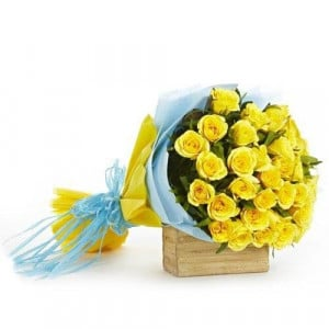 Accord Bloom 30 Yellow Roses - Send Valentine Gifts for Her