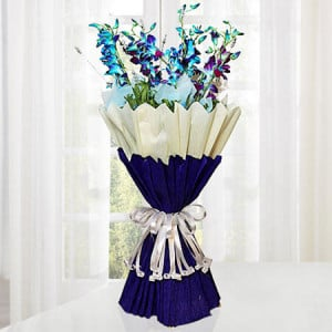 Sparkle Purple 10 Orchids - Online Flower Delivery in Karnal