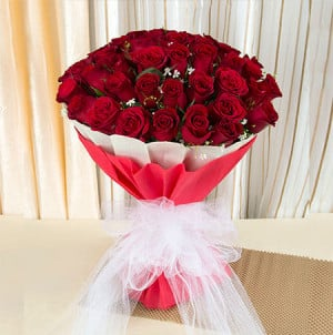 Ruby 40 Red Roses Online - Online Flowers Delivery In Pinjore