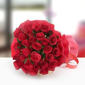 Pure Love Hamper 30 Red Roses - Send Midnight Delivery Gifts Online