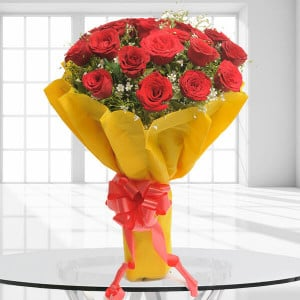 Beautiful 20 Red Roses - 25th Anniversary Gifts