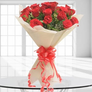 20 Red Roses - 25th Anniversary Gifts