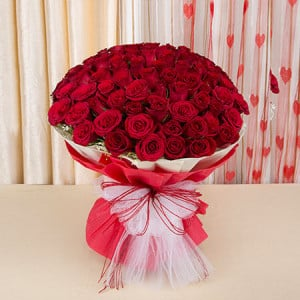 Eternal Bliss 50 Red Roses - Send Flowers to Moradabad Online