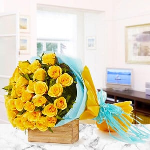 30 Yellow Roses - Marriage Anniversary Gifts Online