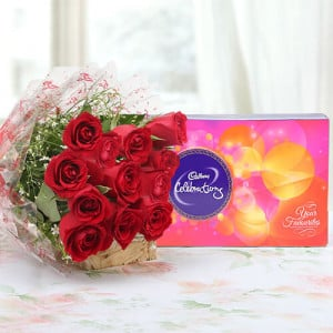Roses & Celebration - Kiss Day Gifts Online