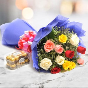 Simple Mix Emotions - Valentine's Day Flowers and Chocolates