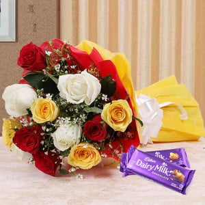 Colour Blast - Rose Day Gifts Online