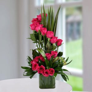 Pink Rose Delight - Online Flowers Delivery In Pinjore