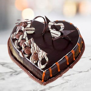 Online Chocolate Truffle Flower Cake - Kiss Day Gifts Online