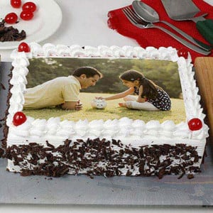 Happy Birthday Blackforest Photo Cake - Birthday Cake Delivery in Noida