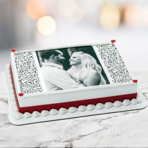 1 Kg Photo Cake Pineapple Eggless - Birthday Cake Online Delivery - Online Cake Delivery in Noida