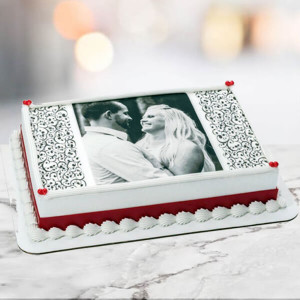 1 Kg Photo Cake Pineapple Eggless - Birthday Cake Online Delivery - Online Cake Delivery in Delhi