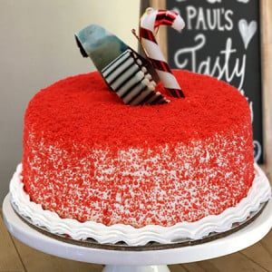 Red Velvet Round Cake - Same Day Delivery Gifts Online