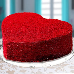 Heart Shape Red Velvet Cake - Online Cake Delivery in Faridabad