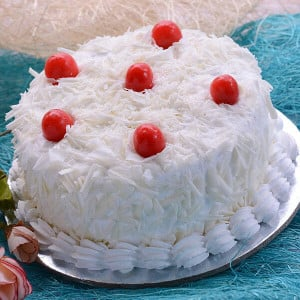 Online White Forest Cake 1kg - Birthday Cake Delivery in Noida