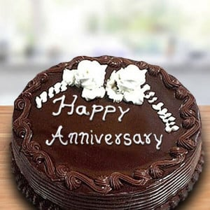 Chocolate Anniversary Cake Online - Send Chocolate Cakes Online
