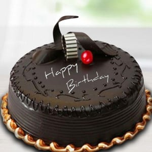 Delicious Birthday Cake Half Kg - Send Chocolate Truffle Cakes Online
